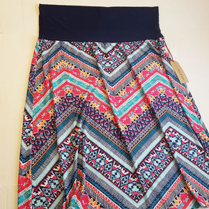 Chevron Multi-Color Maxi Skirt Midi Cute Size 3X